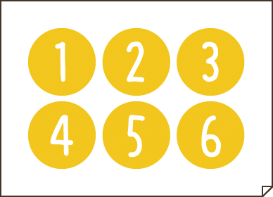 アルバム素材_数字黄色