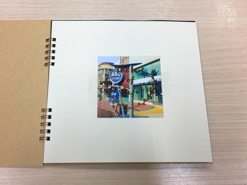 アルバム作り方:表紙の写真を貼る