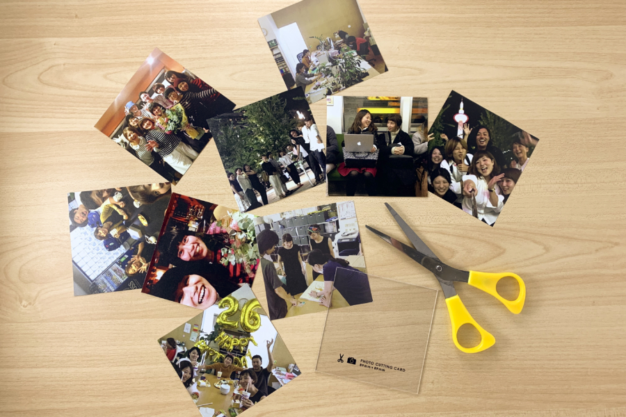 アルバム作り方:写真を切る