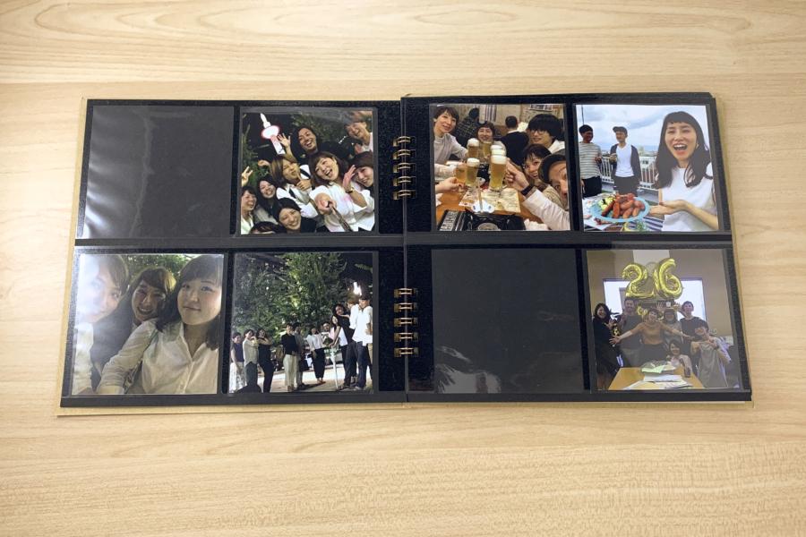 アルバム作り方:思い出の写真を入れる
