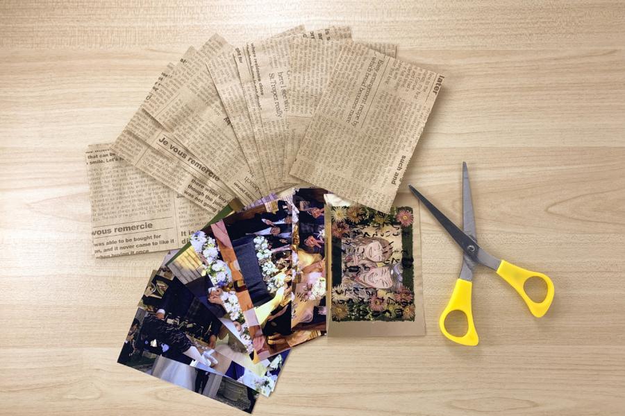 アルバム作り方:クラフトペーパー、写真を切る