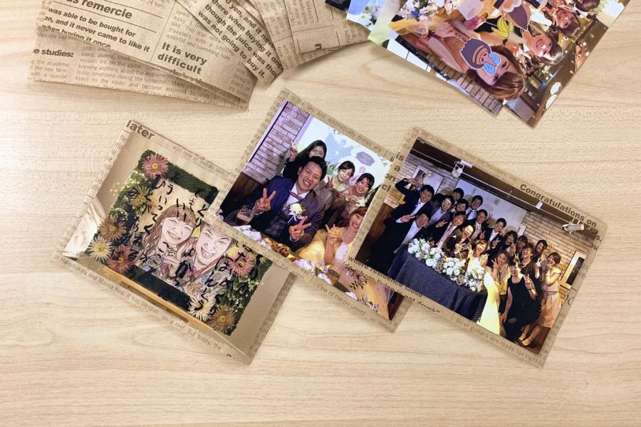 アルバム作り方:写真を貼る