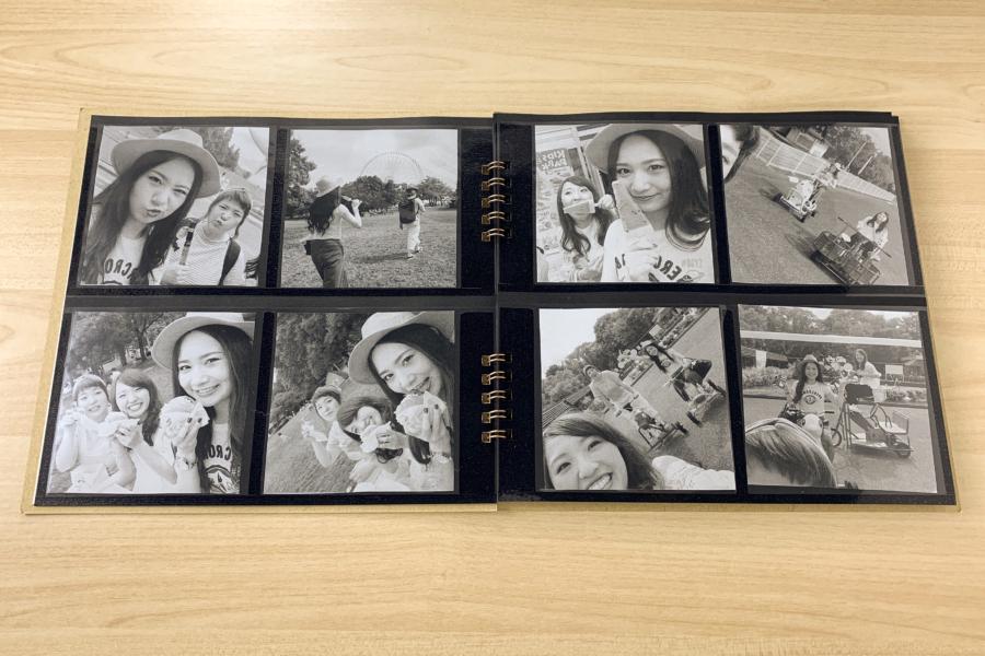 アルバム作り方:【見開きページ】写真を入れる