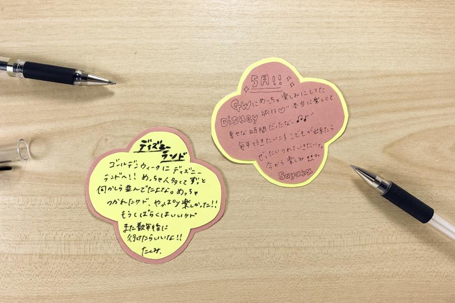 アルバム作り方:メッセージパーツをつくる