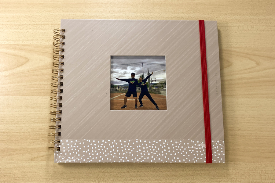 アルバム作り方:表紙に写真をいれる