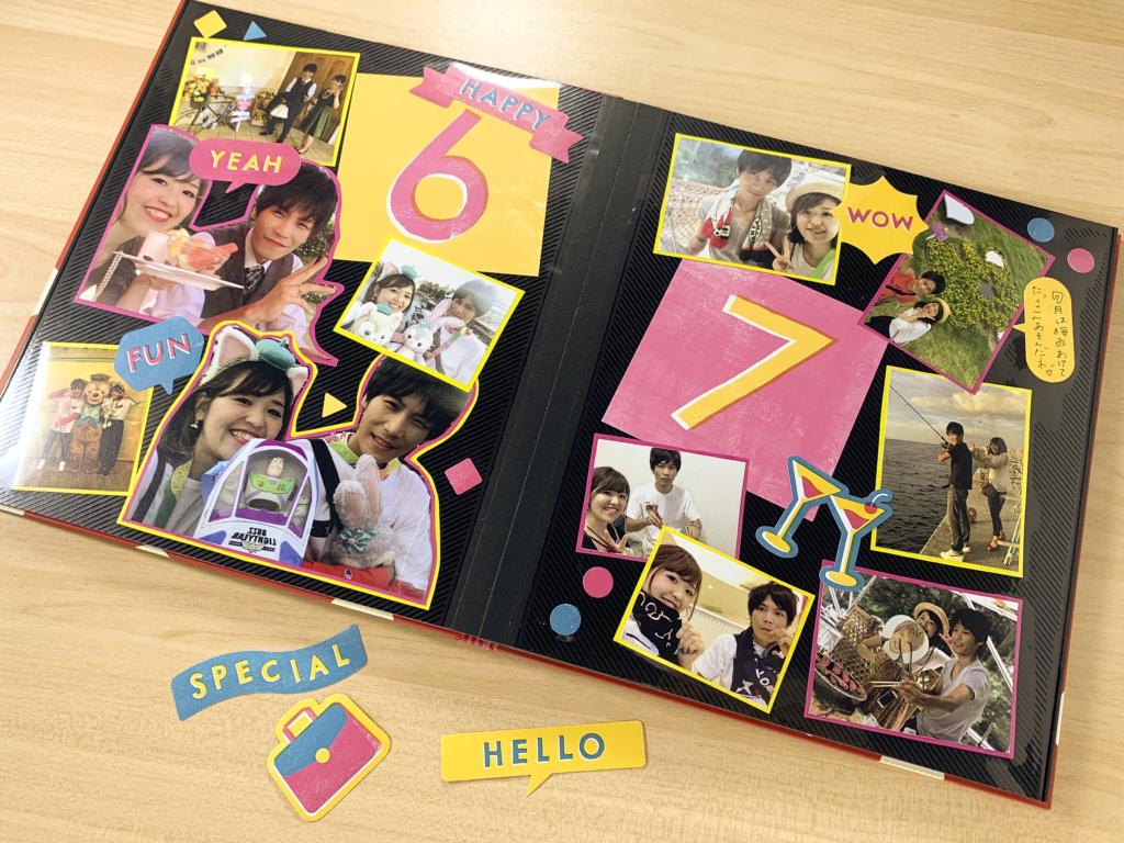 真四角のデコレーションで簡単に作れる!ひと月1ページの記念日アルバム!