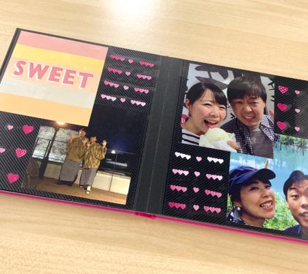 ましかく写真とカードをペタペタ貼るだけ!簡単記念日アルバム