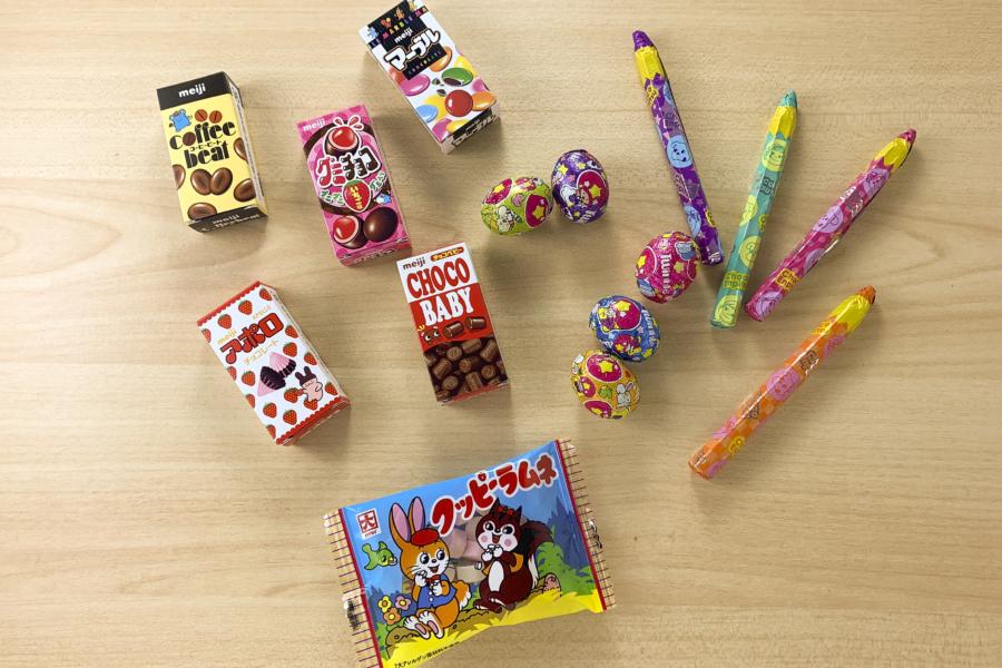 アルバム作り方:お菓子を用意する