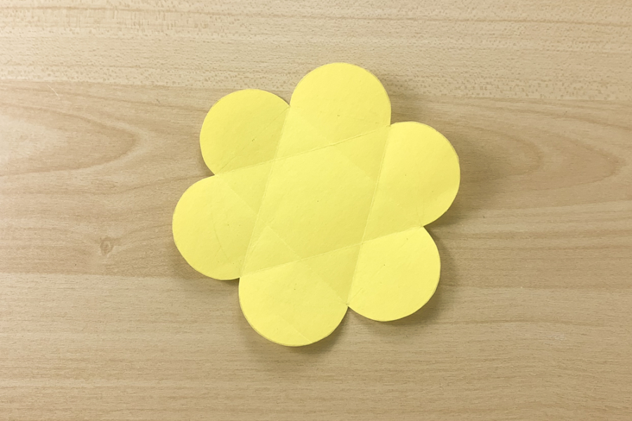アルバム作り方:仕掛けパーツをつくる⑥【開くお花の仕掛け】