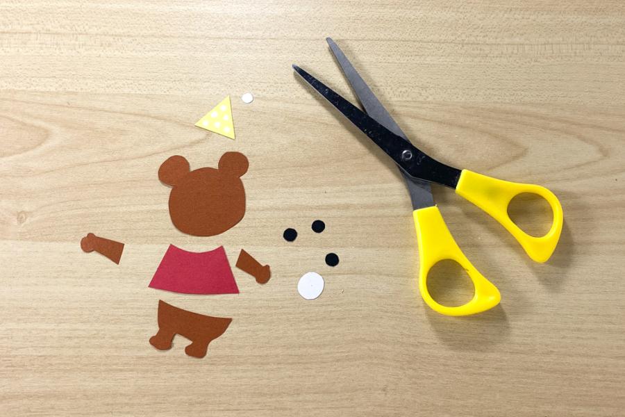 アルバム作り方:デコレーションパーツを用意する【クマ】