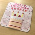 普通の色紙でも簡単仕掛けで可愛くなる!ケーキが開くフォトボード