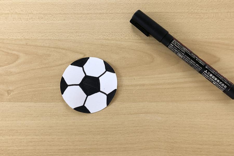 アルバム作り方:サッカーボール②