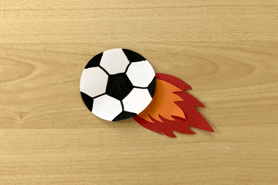 アルバム作り方:サッカーボール④(一工夫)