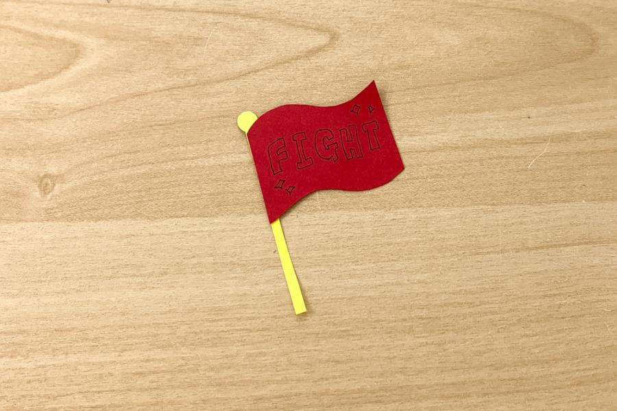 アルバム作り方:応援旗②