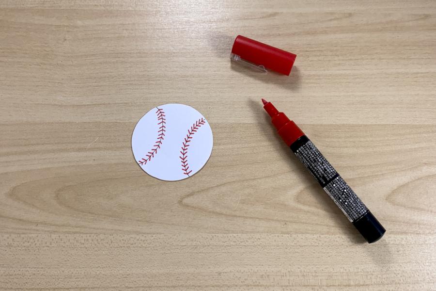 アルバム作り方:野球ボール②