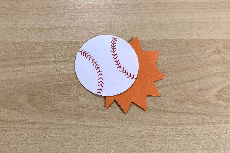 アルバム作り方:野球ボール③(一工夫)