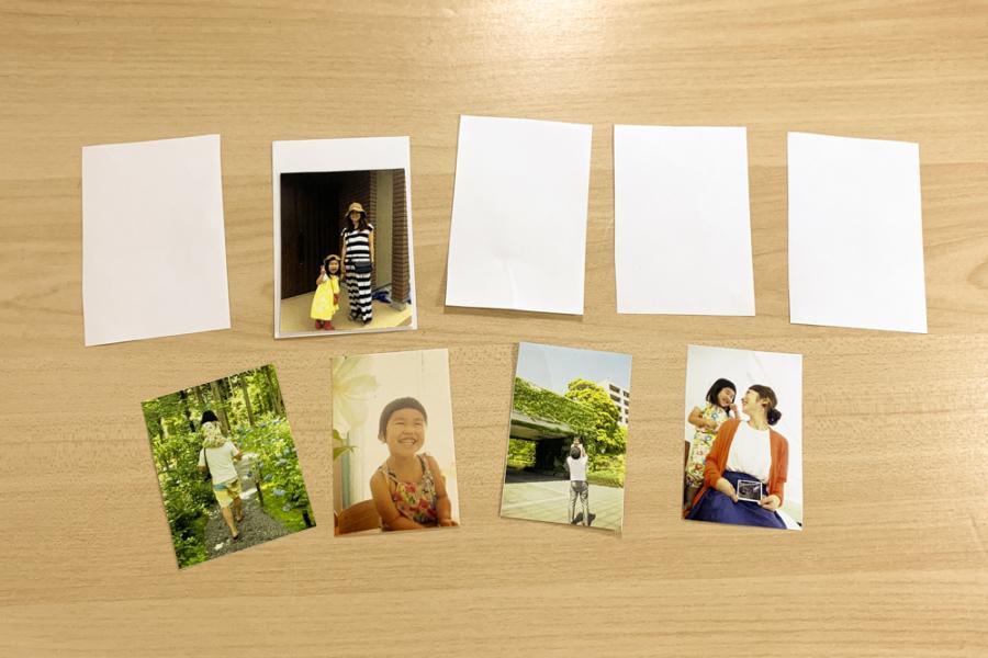 アルバム作り方:仕掛け用写真を用意する①