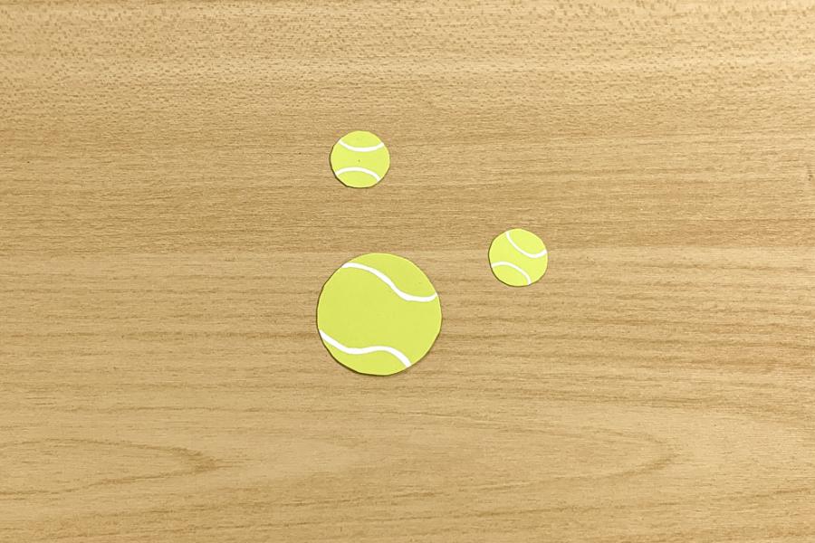 アルバム作り方:テニスボール②