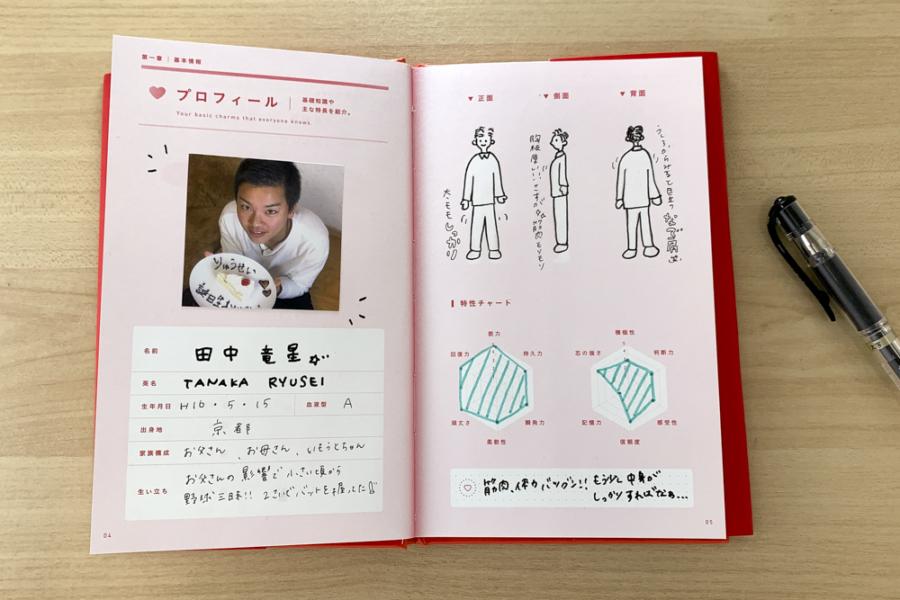 アルバム作り方:プロフィールページ②