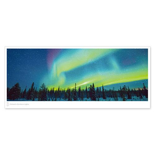 絶景パノラマポストカード フィンランドのオーロラ/フィンランド