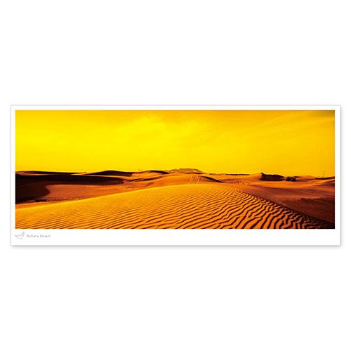 絶景パノラマポストカード ドバイの砂漠/アラブ首長国連邦
