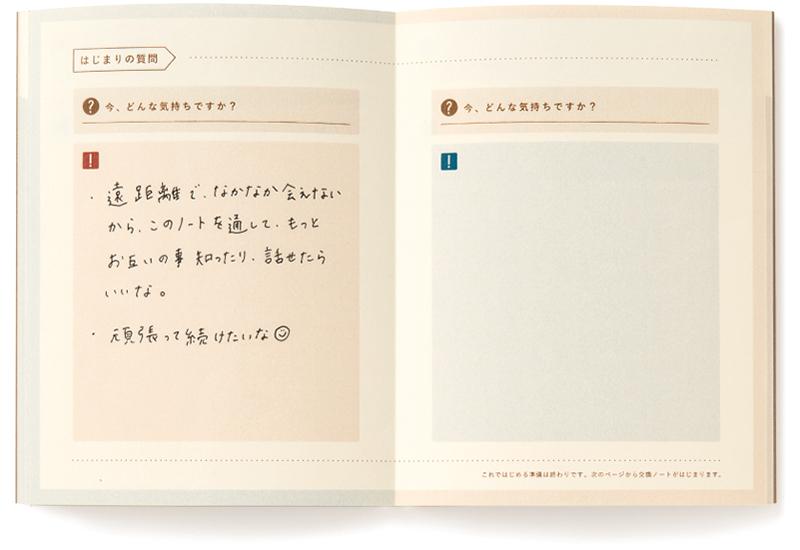 交換ノート カップル