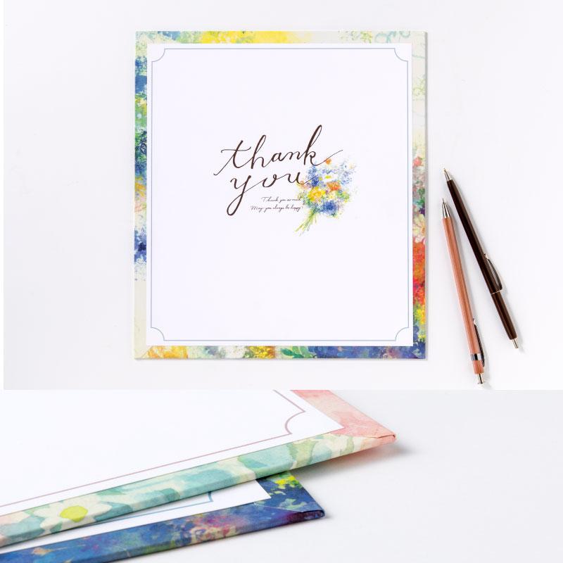 Flower Gallery 花を贈る寄せ書き色紙スクエア いろは出版株式会社