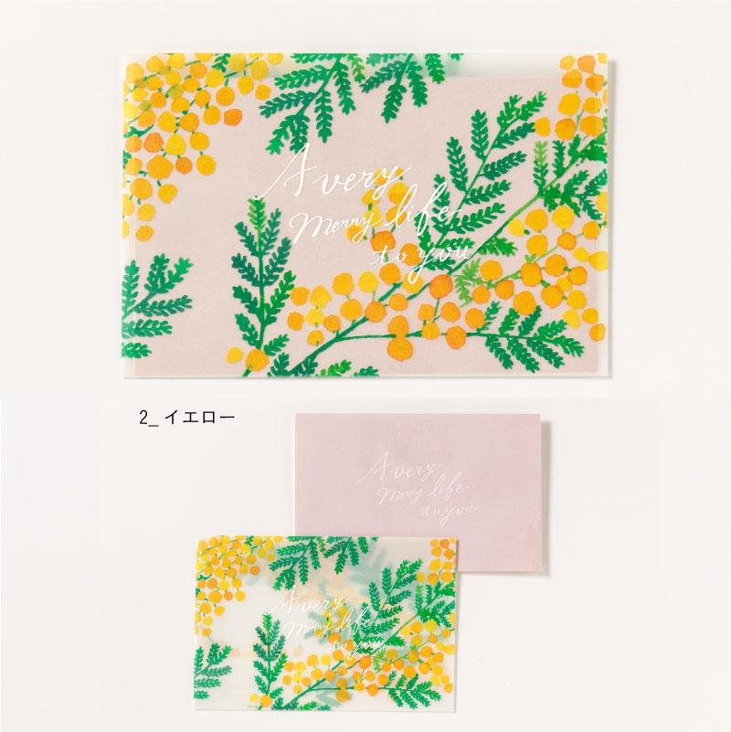 幅広い世代に人気のあるミモザの花や葉をひとつひとつ丁寧に描いています。 Painted by るつ