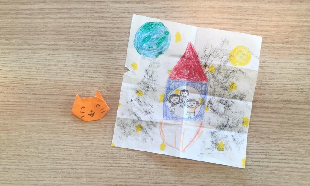 折り紙とイラスト
