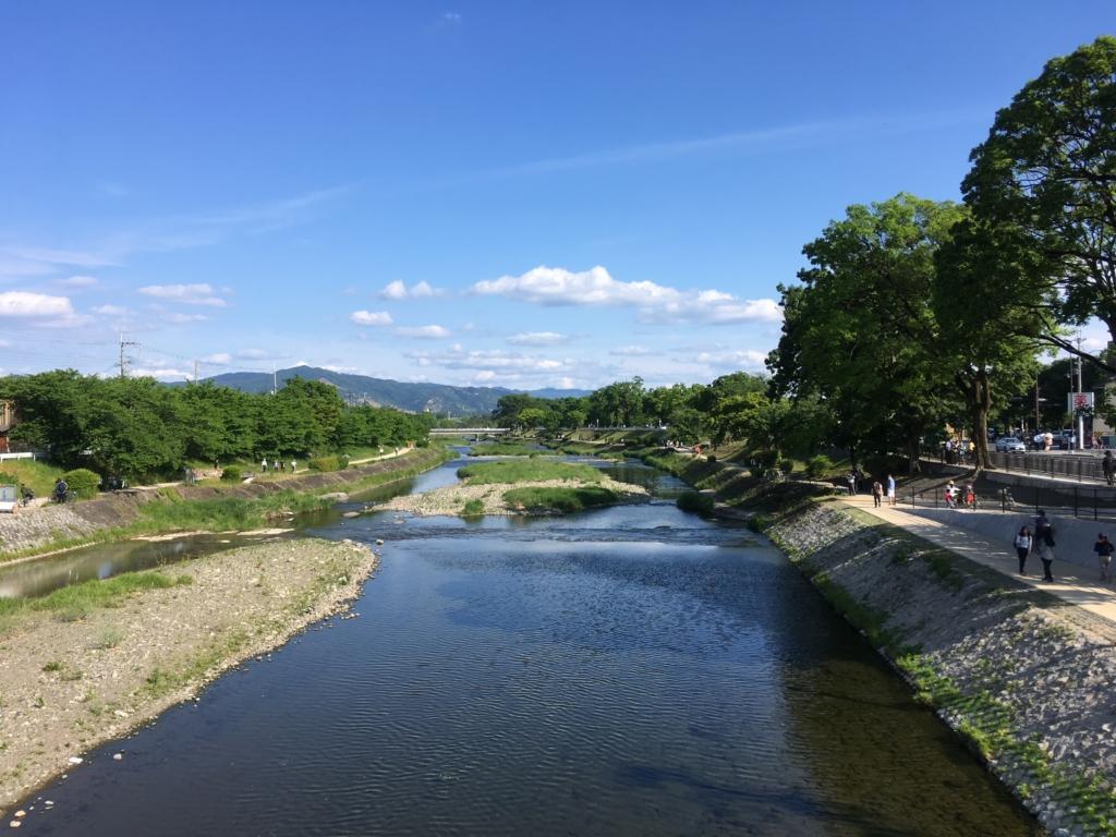 御薗橋からみた鴨川
